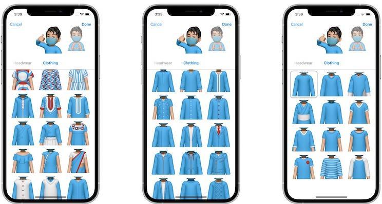 Одежда для Memoji