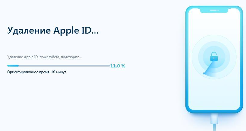 Удалить Apple ID