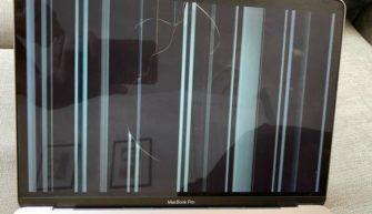 MacBook треснул дисплей