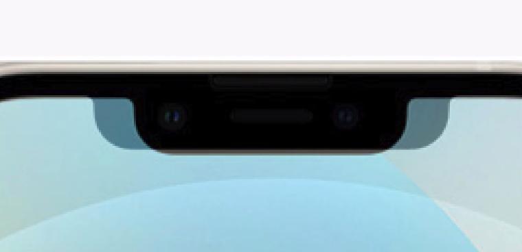 Размер челки iPhone 13