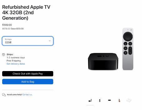 Apple TV 4K восстановленный