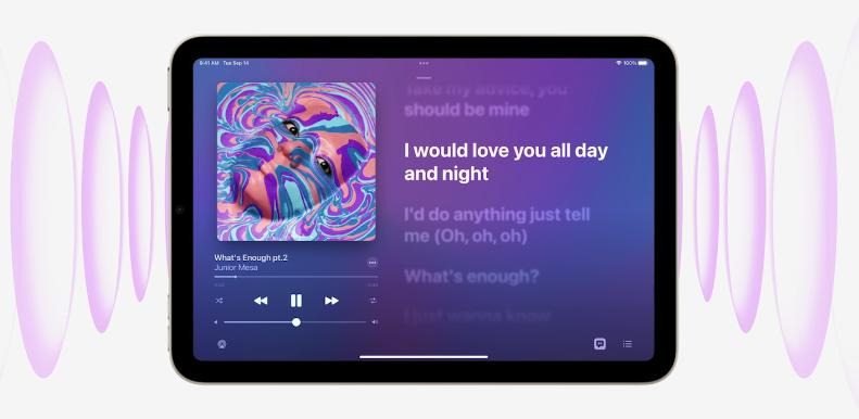 Звук на iPad mini 2021